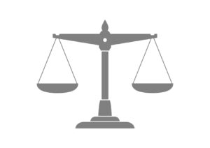 Grey scale icon on white background